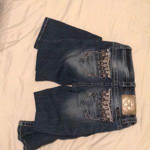 Size 26 embellished MissMe jeans